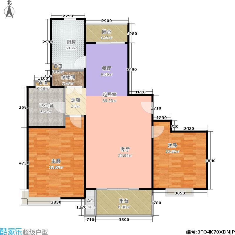 徐家汇花园2室2厅1卫106平米全南户型