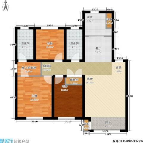 府梓里居3室0厅2卫1厨114.00㎡户型图