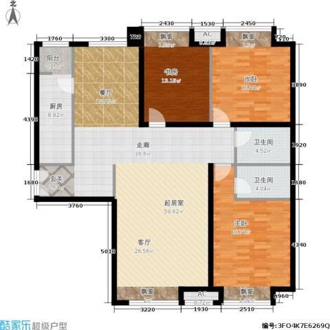 soho时代一天厦3室0厅2卫1厨175.00㎡户型图