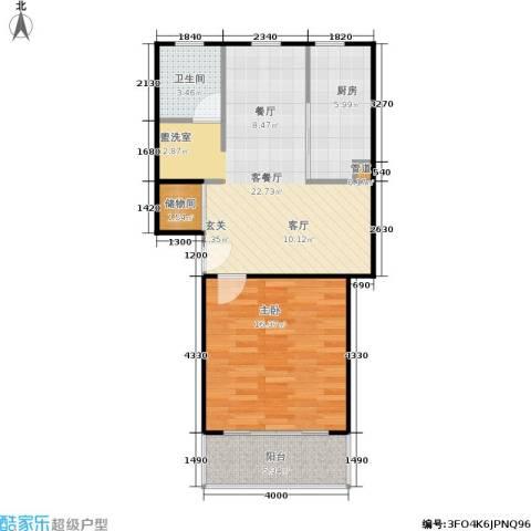 爱盛家园1室1厅1卫1厨59.00㎡户型图