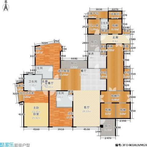 东方润园3室1厅4卫1厨246.78㎡户型图