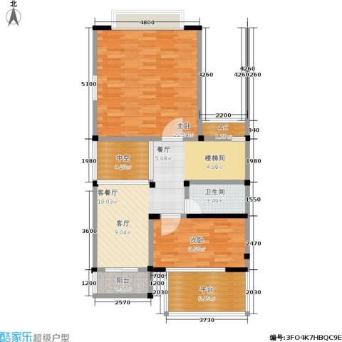 海上普罗旺斯2室1厅1卫0厨99.00㎡户型图
