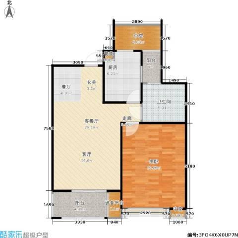 保利家园1室1厅1卫1厨73.21㎡户型图
