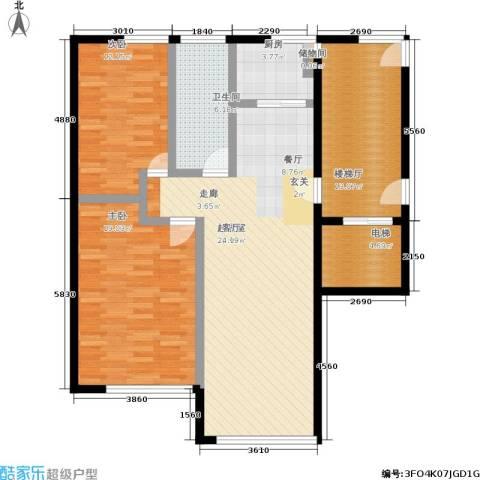 五四华庭2室0厅1卫1厨101.00㎡户型图
