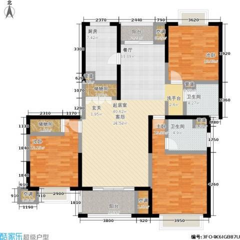 天际蓝桥3室0厅2卫1厨134.00㎡户型图