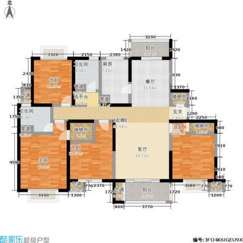 天际蓝桥4室0厅2卫1厨156.00㎡户型图