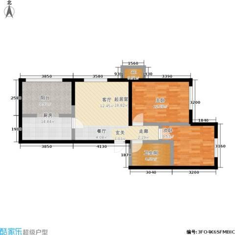 筑石派2室0厅1卫1厨89.00㎡户型图
