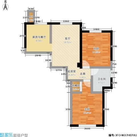唯美品格2室0厅1卫0厨95.00㎡户型图