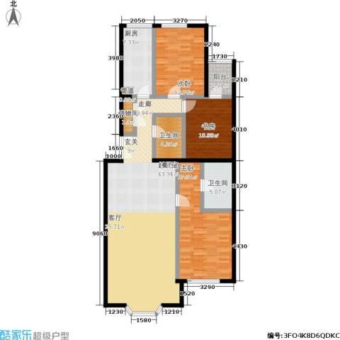 蓝堡国际公寓3室0厅2卫1厨169.00㎡户型图
