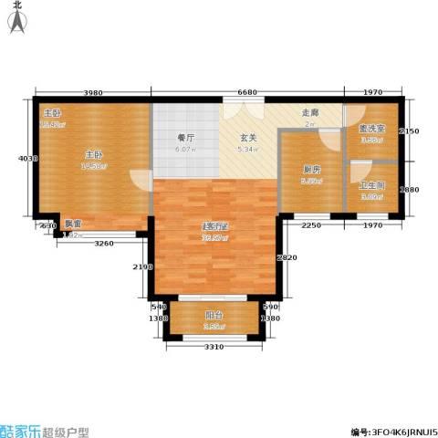 环球翡翠湾花园1室0厅1卫1厨70.00㎡户型图