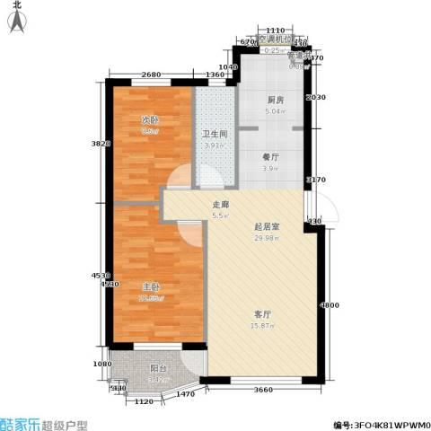 欣怡花园2室0厅1卫0厨65.00㎡户型图