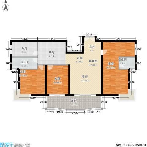 世纪佳园3室1厅2卫1厨207.00㎡户型图