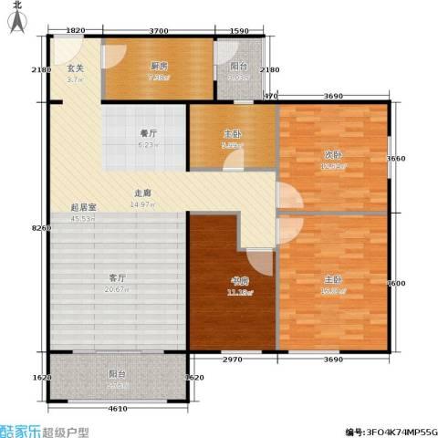 龙河雅居4室0厅0卫1厨145.00㎡户型图