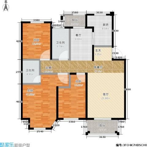 海上普罗旺斯3室1厅2卫1厨174.00㎡户型图