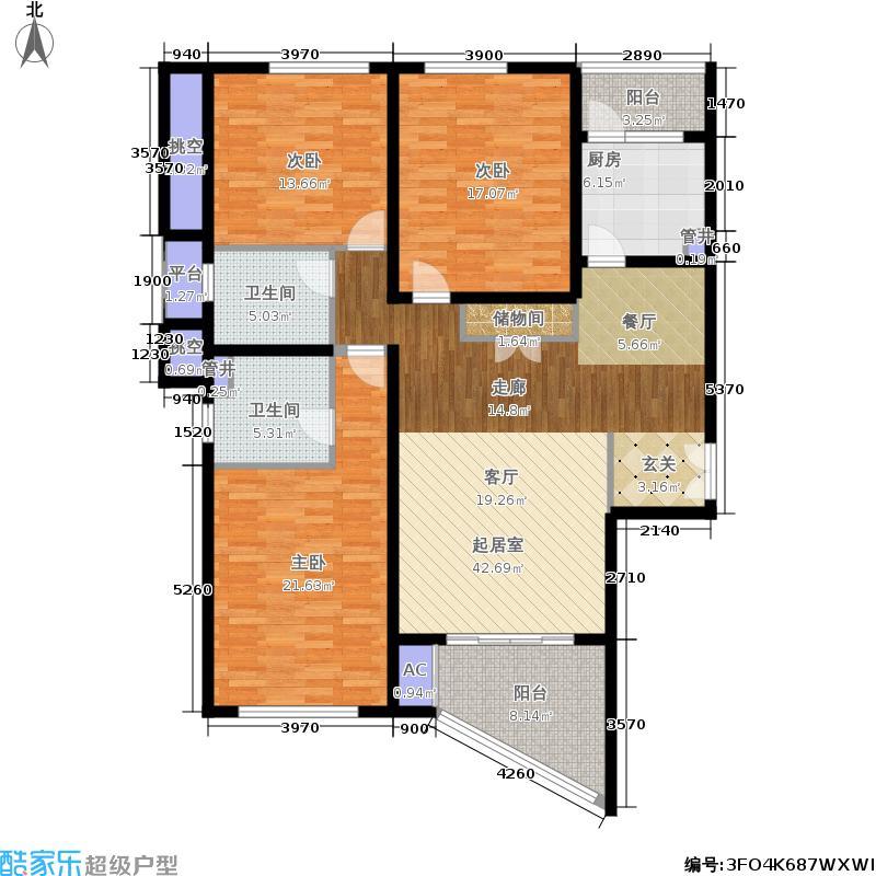 凯欣豪园凯欣豪园 35-36层户型图3 3室2厅2卫148.95㎡户型