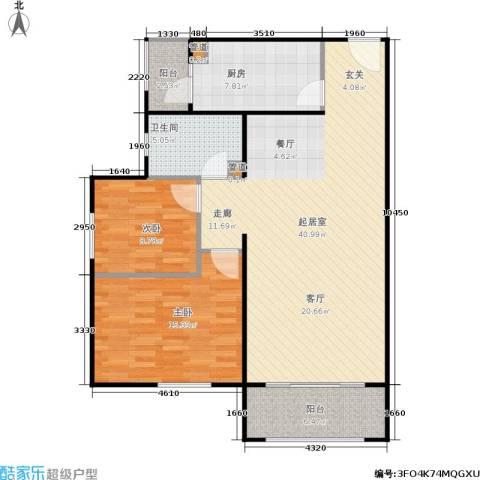 龙河雅居2室0厅1卫1厨94.00㎡户型图