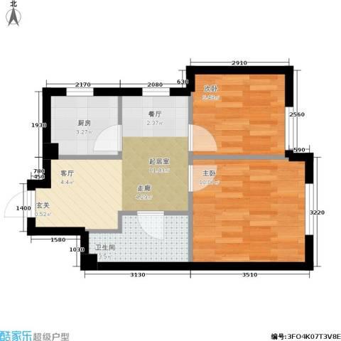 中驰国际2室0厅1卫1厨52.00㎡户型图