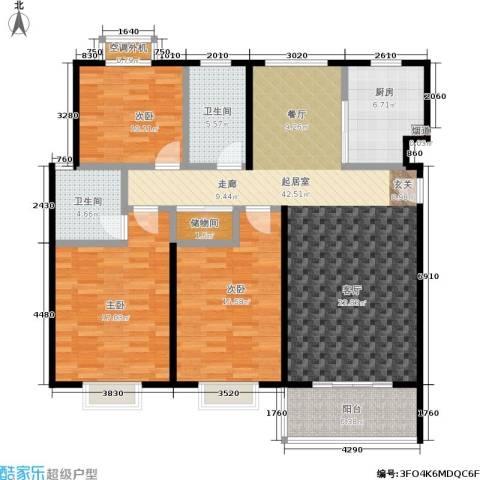 自然居家园3室0厅2卫1厨125.23㎡户型图