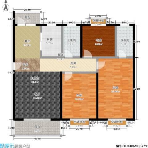 自然居家园3室0厅2卫1厨128.78㎡户型图
