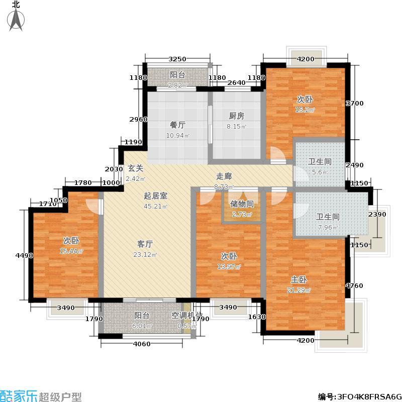 绿地崴廉公寓178.00㎡庭院花园A户型地下一层户型