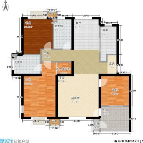 唯美尚品3室0厅2卫1厨135.00㎡户型图