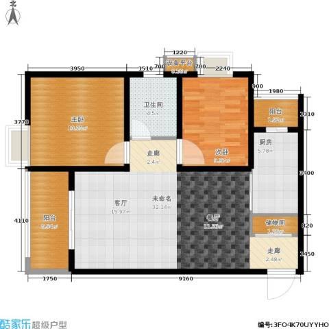 地杰国际城2室0厅1卫1厨85.00㎡户型图