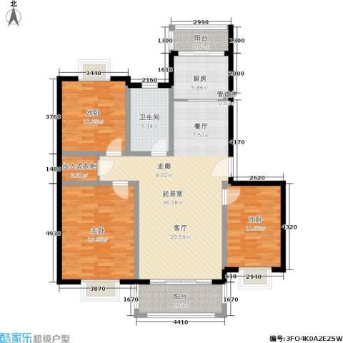 吉利名苑3室0厅1卫1厨141.00㎡户型图