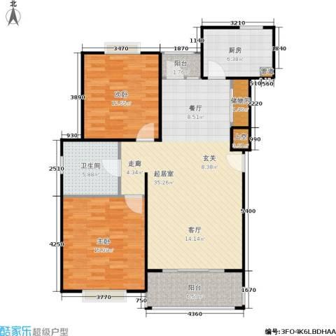 南洋瑞都2室0厅1卫1厨90.00㎡户型图