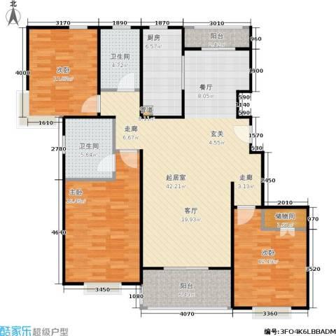 南洋瑞都3室0厅2卫1厨120.00㎡户型图