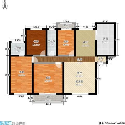 新城国际4室0厅2卫1厨139.00㎡户型图