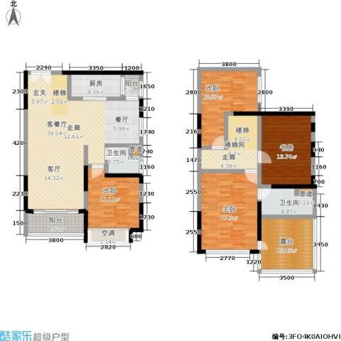 恒大绿洲4室1厅2卫1厨165.00㎡户型图