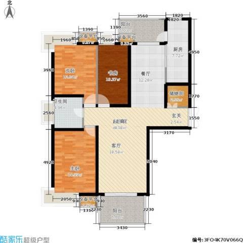 地杰国际城3室0厅1卫1厨123.00㎡户型图