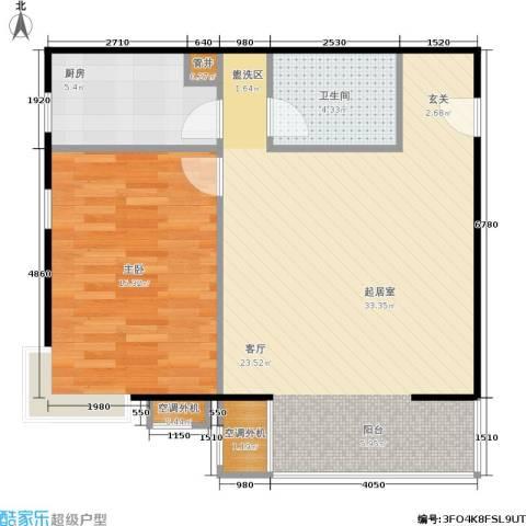 CBD总部公寓1室0厅1卫1厨65.00㎡户型图