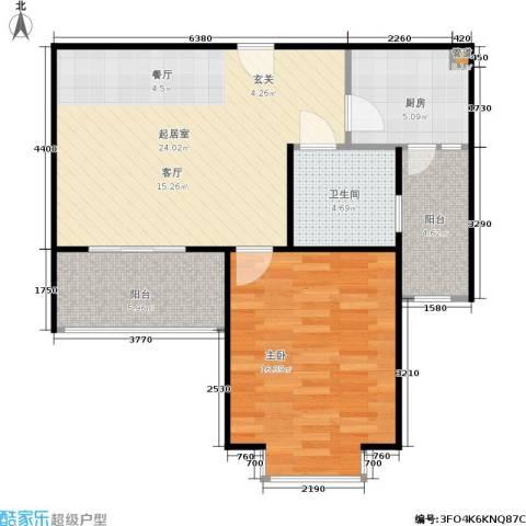 南洋博仕欣居1室0厅1卫1厨65.00㎡户型图