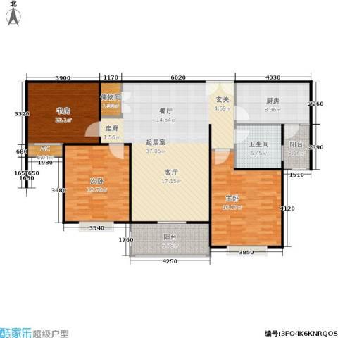 南洋博仕欣居3室0厅1卫1厨111.00㎡户型图