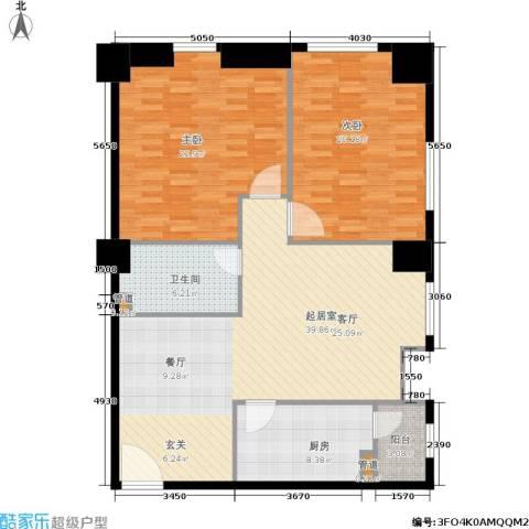 小寨金莎2室0厅1卫1厨142.00㎡户型图