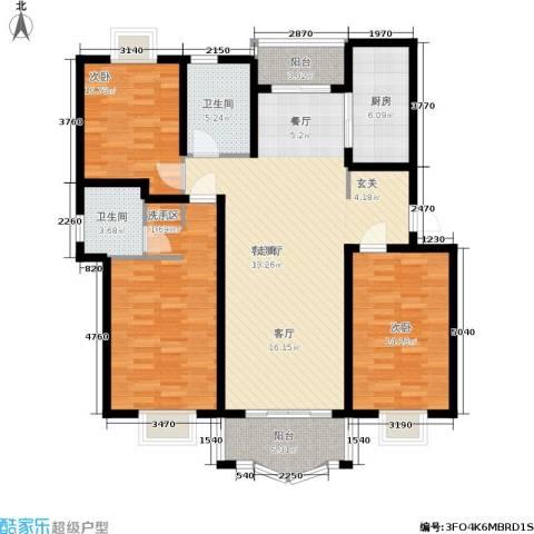久华佳苑3室1厅2卫1厨121.00㎡户型图