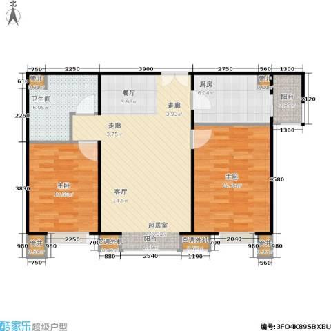 CBD总部公寓2室0厅1卫1厨92.00㎡户型图