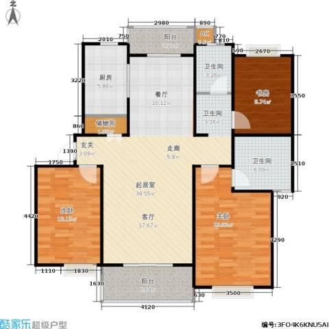 南洋博仕欣居3室0厅2卫1厨111.00㎡户型图