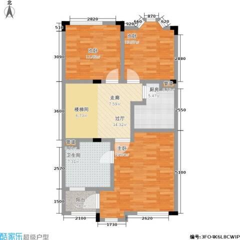 金球怡云花园玫瑰里3室0厅1卫1厨228.00㎡户型图