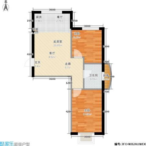 和嘉・佳园2室0厅1卫0厨47.49㎡户型图