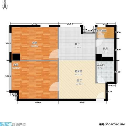 小寨金莎2室0厅1卫1厨119.00㎡户型图