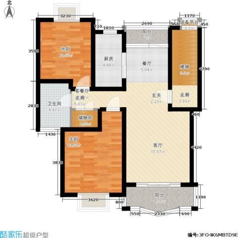 久华佳苑2室1厅1卫1厨90.00㎡户型图