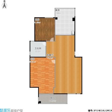江北枫湾家园2室1厅1卫1厨232.00㎡户型图