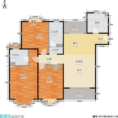 湘府花园3室0厅2卫1厨174.00㎡户型图