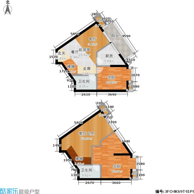 双城双城户型图两室两厅61.25平米(18/20张)户型10室