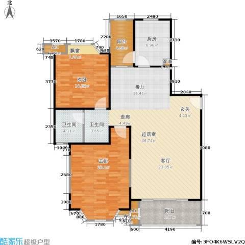 湘府花园2室0厅1卫1厨141.00㎡户型图