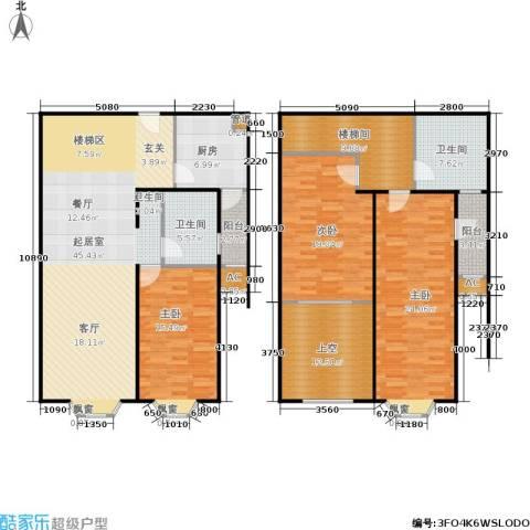 湘府花园3室0厅2卫1厨206.00㎡户型图