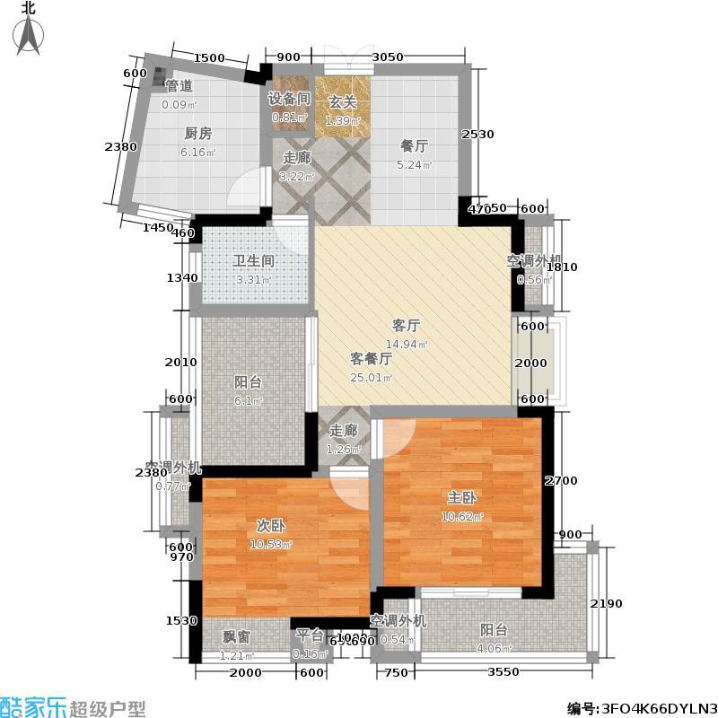 涉外国际公馆涉外国际公馆2室2厅1卫户型2室2厅1卫