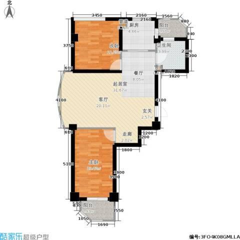 和嘉・佳园2室0厅1卫1厨70.49㎡户型图
